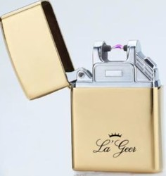 """Зажигалка """"LA GEER"""" 6*4см электроимпульсная USB (уп.1/100шт.)"""