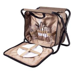 Набор для пикника на 2 персоне в сумке-стульчике 33*23*25см (уп.1/4наб.)