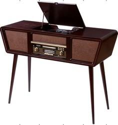 Музыкальный центр-ретро: CD/MP3, Bluetooth, USB,SD карта, AM/FM, AUX, DVD 102*38*30см (уп.1/1шт.)