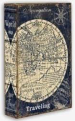 "Шкатулка-фолиант ""Карта мира"" 21*13*5см  (уп.1/24шт.)"